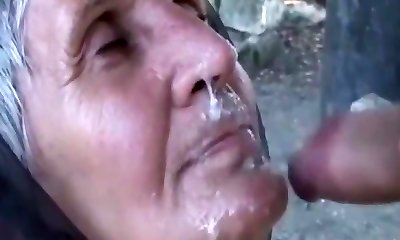 Fabulous homemade Facial, Grandmas porn scene