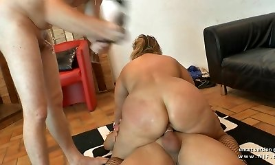 Amateur plumper french mature buggered DP fisted n facialized