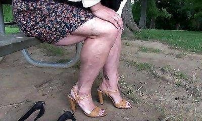 Showing Bulky Legs