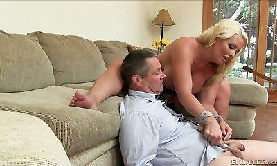 Kinky light-haired mommy Alura Jenson dominates her fellow