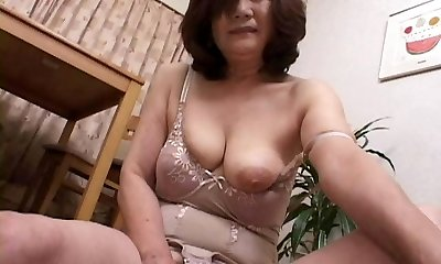 masturbating asian gran part2