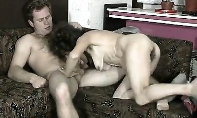 Hairy Brunette Screwed On The