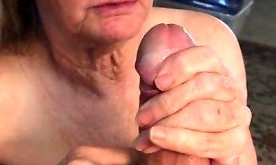 Grandma can't get enough jism
