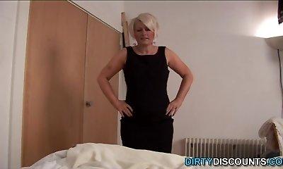 Tugging mature POV cocksucking naughty dick