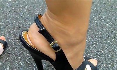 15 cm Sling Steilpumps