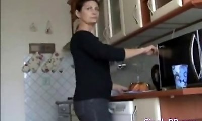 Russian Mommy with son Homemade