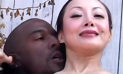 Incredible pornstar Ange Venus in insatiable interracial, brown-haired porn scene