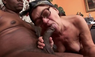 Fabulous pornstar in hottest bi-racial, facial porn scene