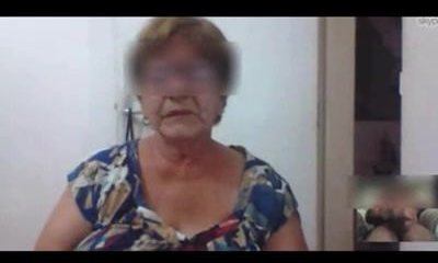 Brazilian granny took hold of masturbating on skype