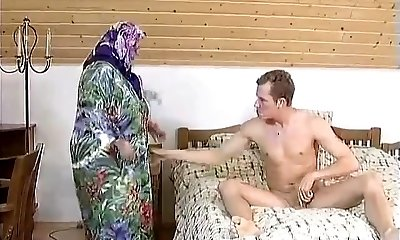 FAT BBW GRANNY MAID FUCKED Hardly IN THE Guest Room