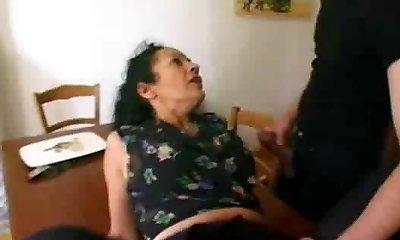 French mature maid satisfies 2 fellows-Rayra