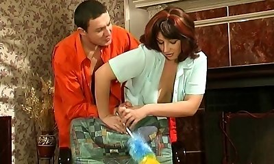 Mature Maid Man Sausage Cleaning
