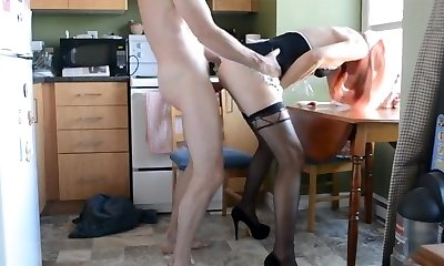 Horny little maid