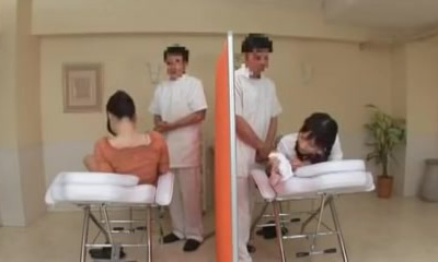 Oil Massage Daughter and Mommy-two