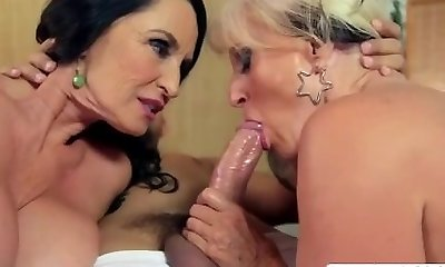 Fresh Cougar Rita Daniels and And Sally D Angelo Boinking Hot Touching Son's