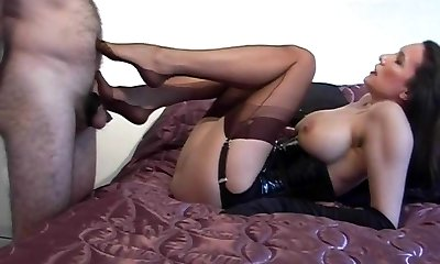 Pantyhose Mature In Action