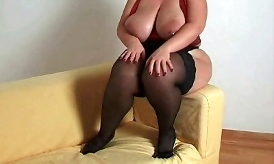 Breasty plus-size mother i'd like to screw in nylons