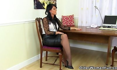 Pantyhose get Leah in a constant state of enlivenment