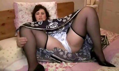 Elderly in nylons