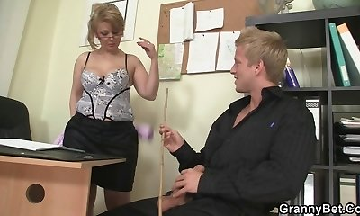 Office lady fucks her employee