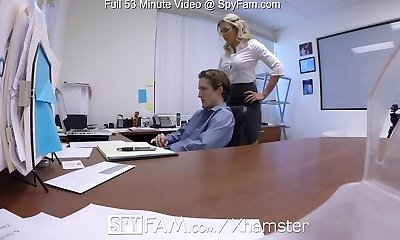 SpyFam Step son office assfucking fuck with step mom Cory Chase
