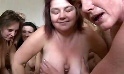 Outstanding Mature Harem Orgy