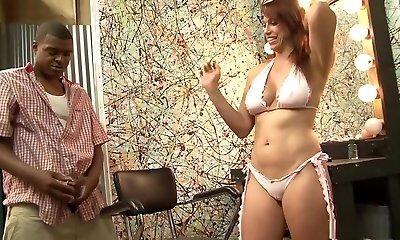 Amazing pornographic star Nikki Hunter in horny redhead, mature sex video