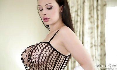 Beautiful mummy Aletta Ocean in hot masturbating solo compilation