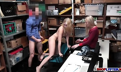 Shoplifter Sierra Nicole torn up in front of her mom