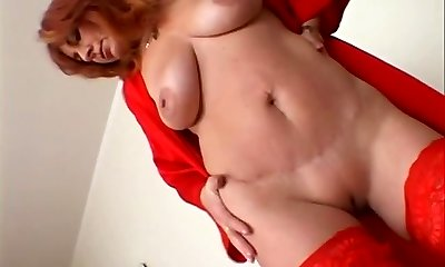 Horny redheaded Mature getting pummeled