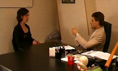 French hairy mature buggered by her boss