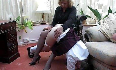 Granny spanks grandaughter 2