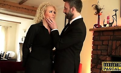 Brit realtor ass nailed by rough maledom