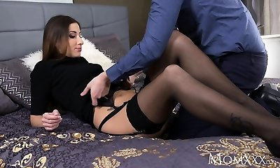 MOM Seductive French milf in sexy stocking