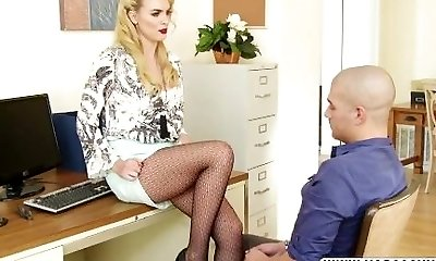 Cowardly Not Mother Keira Nicole In Stockings Gets Warm Dick
