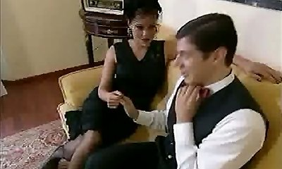 Big Jugged Widow In Black Basque & Stockings Banged