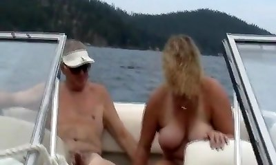 Sharing wifey on the boat
