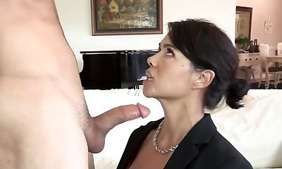 Stepson fucks his asian stepmom