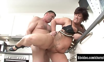 German cougar eat plumber dick