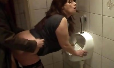whore fuckin'  kathy in my local club toilet