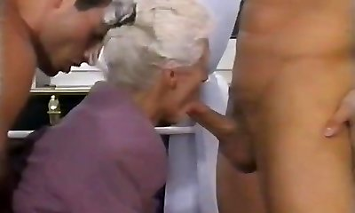 2 Dudes AND A DOUBLE PENETRATION FOR Grandma