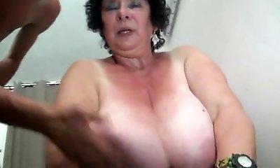 FRENCH BBW 65YO Grandma OLGA FUCKED BY 2 MEN - Dp