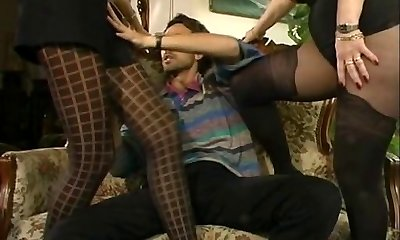 MFF Steve got involved with two hot Mummies in pantyhose