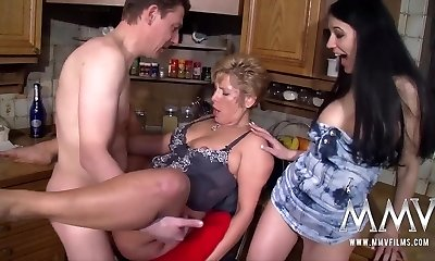 MMV FILMS Busty Mature First-timer Threesome