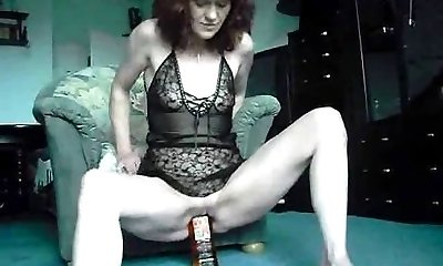 Extreme first-timer ravages a whiskey bottle and cu