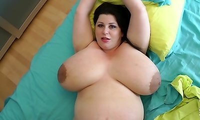 fattest breasts ever on a 9 month preggo milf