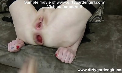 Dirtygardengirl hard rectal fisting & punching with Alex Thorn