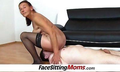 Perverted czech gilf Linda queening and bushy puss