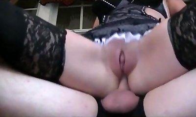 Mature Maid anally banged