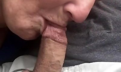Granny bj & swallow in truck